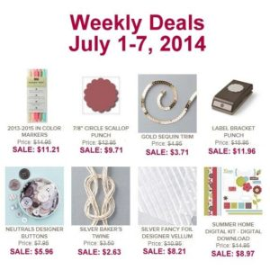 Weekly Deal July 1 - 7