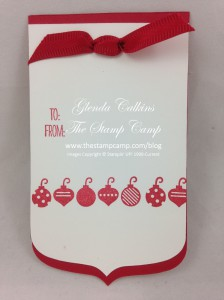 Party Pennant Christmas Tag