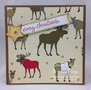 Santa & Co DSP Moose Print Gift Card Holder
