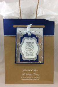 Foil Stars card with bag