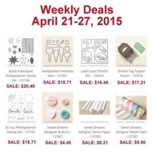 Weekly Deals April 21