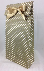 large gold gift bag punch board