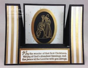 "Open Center Step Card using ""All Ye Faithful"" stamp set"