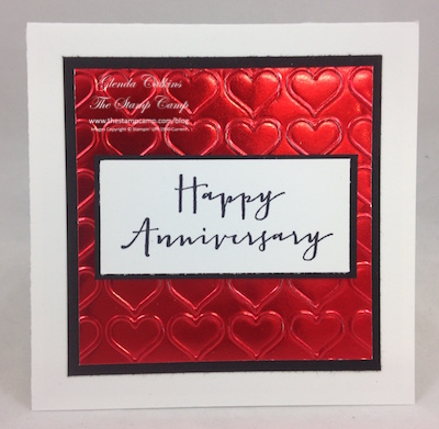 Anniversary Gift Card Holder