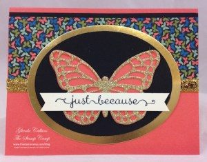 Butterfly Diecuts and Pretty Petals Paper