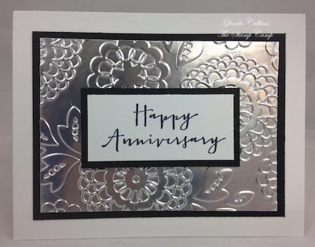 Silver Anniversary card