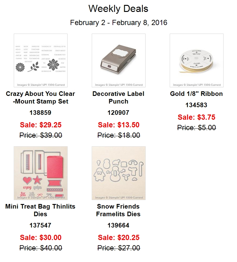 Weekly Deals Feb 2