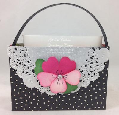 6 x 6 purse Pansy