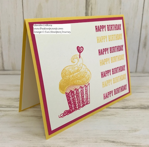 Hello Cupcake a Sale-a-bration stamp set available until the end of March 2019. This is through Stampin' Up! www.thestampcamp.com #stampinup #saleabration #hellocupcake #cards