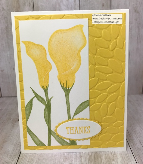 This is the last week you can get the Lasting Lilly stamp set for FREE through Stampin' Up!  Sale-a-bration ends March 31.  Details on my blog: www.thestampcamp.com #stampinup #saleabration #thestampcamp #cards