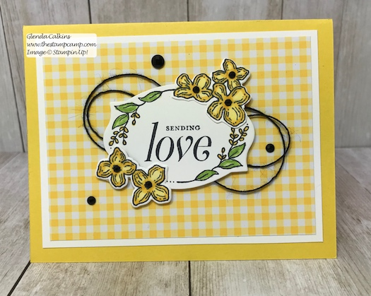 A simple card just to say Love you. This is the retiring Floral Frames Bundle from Stampin' Up! Purchase it soon before it is gone for good! Details: www.thestampcamp.com #thestampcamp #stampinup #retiring #handmade