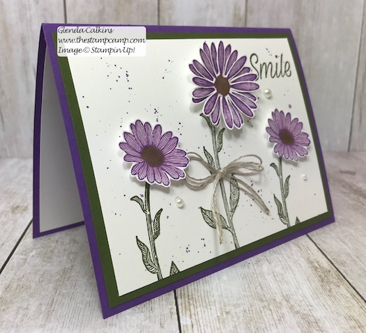 This is my featured stamp set for June it is the New Daisy Lane Bundle and I also added the Daisy punch. The bundle has the smaller Daisy punch in it. Details on my blog: https://wp.me/p59VWq-a7Y . #stampinup #thestampcamp #daisylane