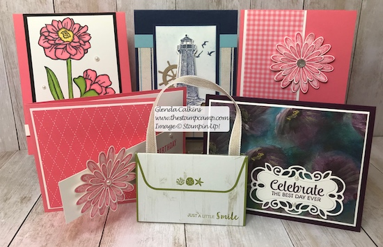 These are the weekly card giveaways for this week. One lucky winner will be getting these cards in the mail this week. Details on my blog here: https://wp.me/p59VWq-acE #stampinup #thestampcamp #weeklycardgiveaway #cards