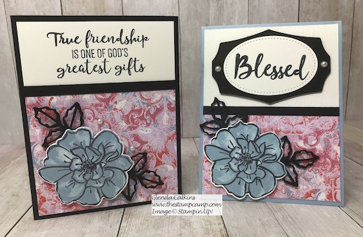 This is the Stampin' Up! Woven Heirlooms Designer Series Paper and the To a Wild Rose stamp set. This was done for a sketch challenge. Details are on my blog here: https://wp.me/p59VWq-akF #stampin #heirloom #wildrose #thestampcamp