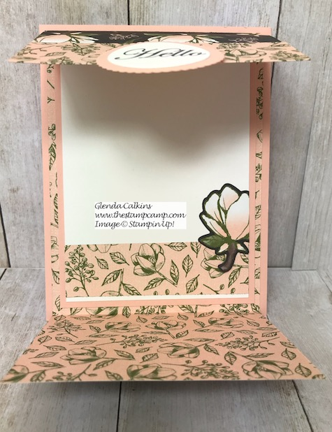 One sheet of 12 x 12 card stock will give you 3 gorgeous double-sided printed cards in no time. Details on my blog here: https://wp.me/p59VWq-anT #stampinup #thestampcamp #magnolialane #printedpapers