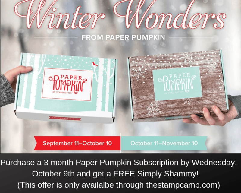 Subscribe to paper pumpkin today and start getting these awesome kits in the mail. Details on my blog: https://wp.me/p59VWq-arL #stampinup #paperpumpkin #thestampcamp