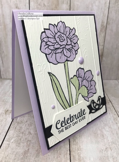 This is the Band Together stamp set in the New In Color Purple Posy from Stampin' Up! Details on my blog here: https://wp.me/p59VWq-atn #stampinup #thestampcamp #bandtogether #purpleposy