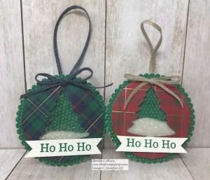 Perfectly Plaid Christmas Ornaments