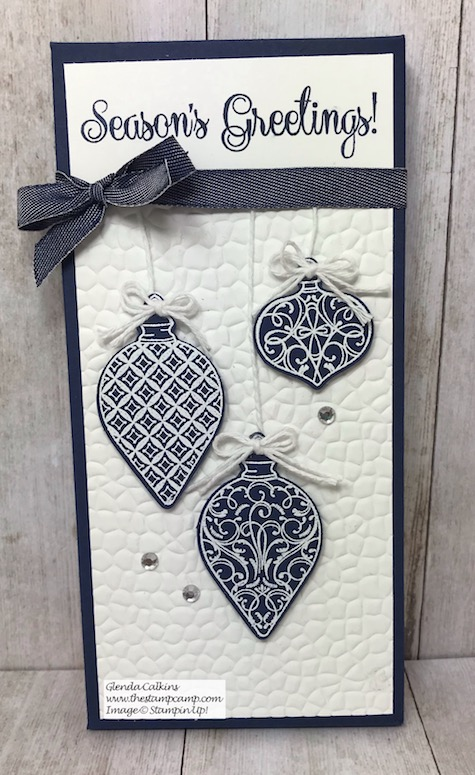 Day 9 in My 12 Days of Christmas Gift Giving Ideas. Today's gift is a Large Hershey Bar Boxed up for a stocking stuffer or just to hand out; so pretty. Details on my blog here: https://wp.me/p59VWq-aC5 #stampinup #thestampcamp #treatholder #christmas