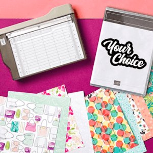 Join my team January 3 - March 31, 2020 and receive this mini paper cutter; Paper Swatch and FREE Stamp Set in your kit. See my blog here for details: https://wp.me/p59VWq-aDY