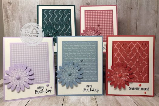 In color Club cards going out for this month. I will have a new IN Color Club starting in July; if you want to join let me know. Details on my blog here: https://wp.me/p59VWq-aMr #stampinup #incolors #thestampcamp