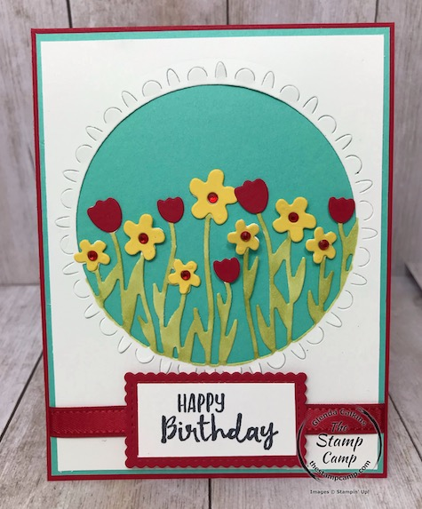 This is Sending Flowers Dies which is part of the Coordination Product Release from Stampin' Up! Details can be found on my blog here: https://wp.me/p59VWq-aLy #stampinup #thestampcamp #dies