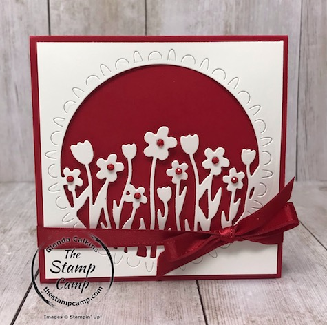 This is from the Sending Flowers dies which I paired with the Timeless Tulips stamp set. Details are on my blog here: https://wp.me/p59VWq-aLU #stampinup #tulips #thestampcamp #sendingflowers