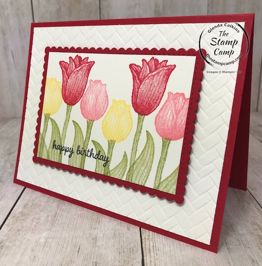 Timeless Tulips with the Tulip Builder Punch from Stampin' Up! the perfect set for Spring occasions. Details are on my blog here: https://wp.me/p59VWq-aNM #stampinup #tulips #punch #thestampcamp