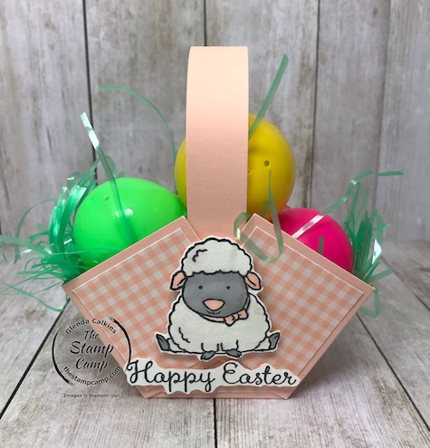 Created this fun Easter Basket using the Welcome Easter Stamp Set from Stampin' Up! Details on my blog here: https://wp.me/p59VWq-aR1 #easter #stampinup #thestampcamp #easterbasket