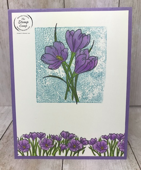 This is the Easter Promise Stamp set from Stampin' Up! Simple card for simple stamping. Details are on my blog here: https://wp.me/p59VWq-aRA . #stampinup #easter #simplestamping #thestampcamp