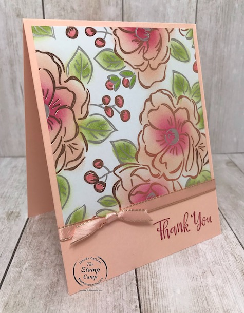 Still playing with the Flowering Foils Specialty Paper which is FREE during Sale-a-bration 2020. Details are on my blog here: https://wp.me/p59VWq-aSp #stampinup #saleabration #thestampcamp #papers #floweringfoils