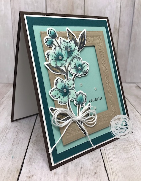 This is my take on a color challenge issued by Stampin' Up! to demonstrators. What do you think? Details are on my blog here: https://wp.me/p59VWq-aVB . #stampinup #keepstamping #thestampcamp #foreverblossoms