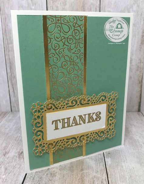 The Ornate Garden Specialty Designer Series Paper is just beautiful with minimal stamping involved. Details are on my blog here: https://wp.me/p59VWq-aUm . #stampinup #ornategarden #thestampcamp #designerpaper