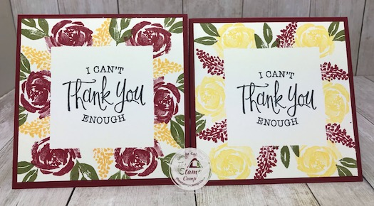I was issued a Color Challenge so I decided to combine it with my Simple Stamping Masking Technique. You can find the details and video on this blog post: https://wp.me/p59VWq-be7 #stampinup #thestampcamp #beautifulfriendship