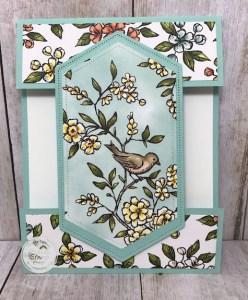 Fun Fold with Bird Ballad Designer Series Paper