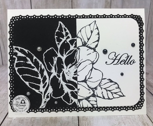 This technique is an oldie but a goodie. Have you ever done the split negative technique? Join Me here on my facebook page for details: https://wp.me/p59VWq-bfh. #stampinup #thestampcamp #glendasblog #technique #magnolia