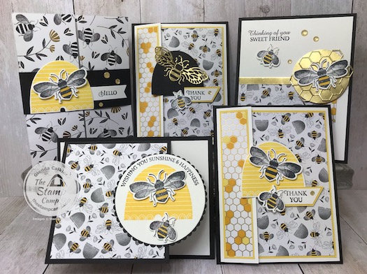 The Honey Bee Bundle will soon be retired; June 2, 2020. This was a very popular bundle during Sale-a-bration and is from the Mini Catalog. Details and PDF file are available check out my blog post here: https://wp.me/p59VWq-aY8 #stampinup #honeybee #thestampcamp