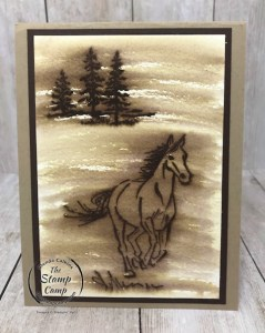 Faux Wood Burning Technique with Let It Ride