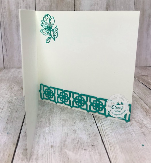 Today's fun fold card is what I call a faux book binding card. I paired it with the Medallion Dies and the Good Morning Magnolia stamp set. A great pairing. Details can be found on my blog here: https://wp.me/p59VWq-bgO. #stampinup #thestampcamp #medalliondies #magnolia