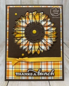 Celebrate Sunflowers Peek-a-boo with Plaid Tidings
