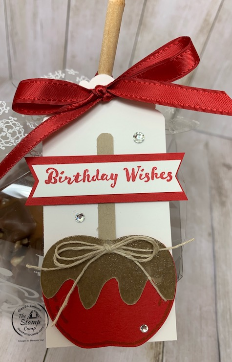 It's Make It Monday and this week I have a super cute Tag for your Caramel Apple Treat! You can give this as s birthday gift or give it to a teacher just because; the choice is yours but the recipient will LOVE it no matter what the occasion is. Details are on my blog here: https://wp.me/p59VWq-btO. #thestampcamp #stampinup #treat #tag