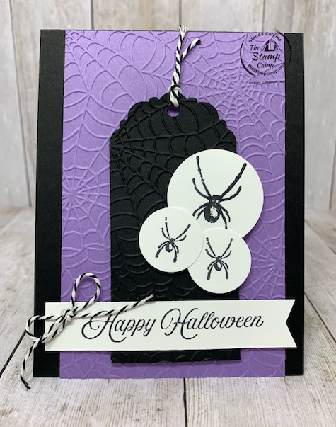 Creating with Team Stamp Camp has a sketch challenge this week and I thought I should do my take on it. The sketch makes you think Christmas but I saw Halloween. This is the Hallows Night Magic Bundle with the Cobwebs 3D embossing folder. Details are on my blog here: https://wp.me/p59VWq-bsI. #stampinup #hallowen #sketchchallenge #thestampcamp