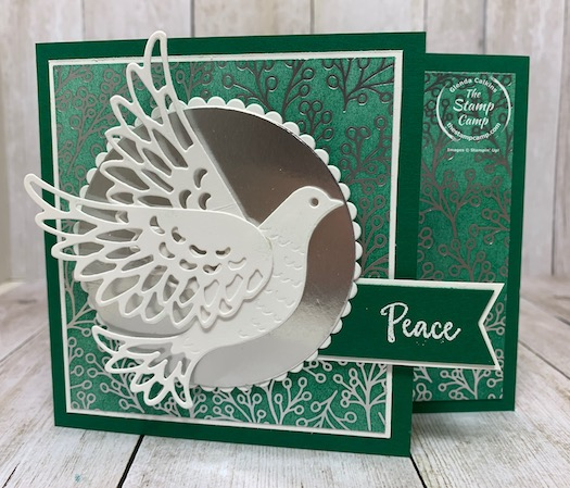 The Dove of Hope stamp set is a beautiful stamp set for this holiday season. Today's card has a bit of a technique to it and a tip on the image Peace, Joy, Hope. Details are on my blog here: https://wp.me/p59VWq-bwS. #stampinup #thestampcamp #doveofhope #christmas