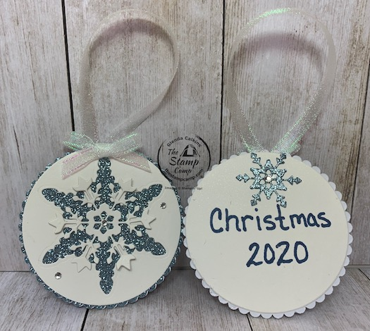The Snowflake Wishes Bundle creates the perfect Christmas ornament for Christmas this year. You can use these for your Christmas Tags on your gifts and then they can put them on their tree for decorations. Details can be found on my blog here: https://wp.me/p59VWq-bxS. #stampinup #thestampcamp #snowflakes #ornament