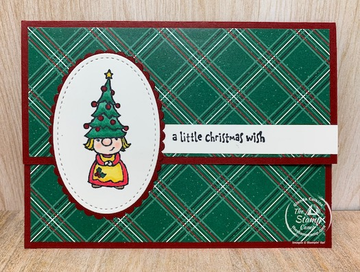Fun Fold Friday featuring the Gnome for the Holiday's Stamp Set. This fun Gnome set is a sweet different set for your Christmas cards and today's fun fold can be a multipurpose fold; gnome what I'm talking about? Check it out! #stampinup #thestampcamp #gnomeforchristmas #christmascard #funfold