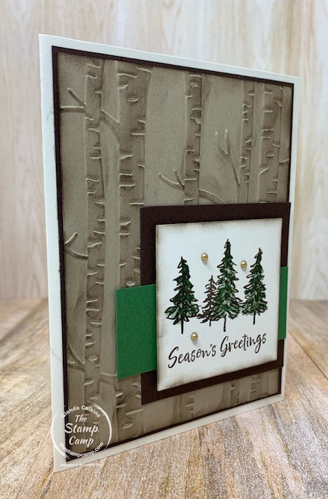 In The Pines is perfect for so many different occasions as well as masculine cards. Today's card was done for the sketch challenge at Case This Sketch. Give it a try! #thestampcamp #stampinup #inthepines