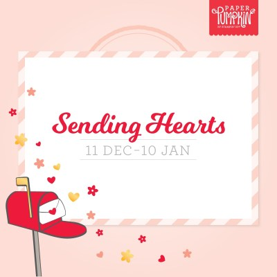 The Stampin' Up! Paper Pumpkin Kit for January 2021 is called Sending Hearts and besides making 8 cards with envelopes you can purchase the add on kit and create 20 mini boxes with tags for only $8.00! #stampinup #paperpumpkin #thestampcamp