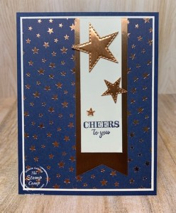 Cheers to You with Brightly Gleaming Designer Paper