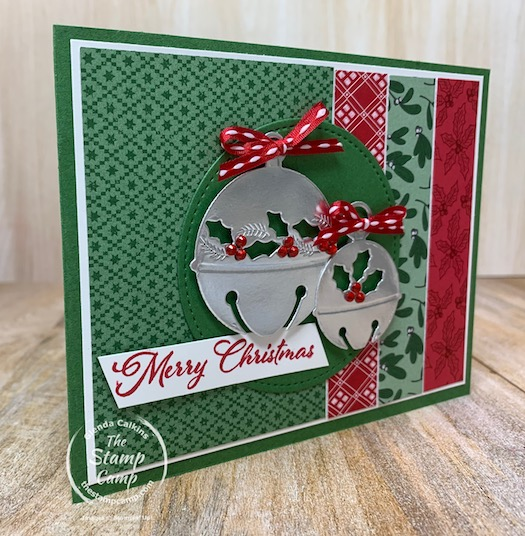 Saturday Sketch Challenge - Today's sketch is from Splitcoaststampers and is SC830. I paired the Cherish the Season Bundle with the Tis the Season Designer Series Papers for this fun Christmas card. #thestampcamp #stampinup #sketchchallenge