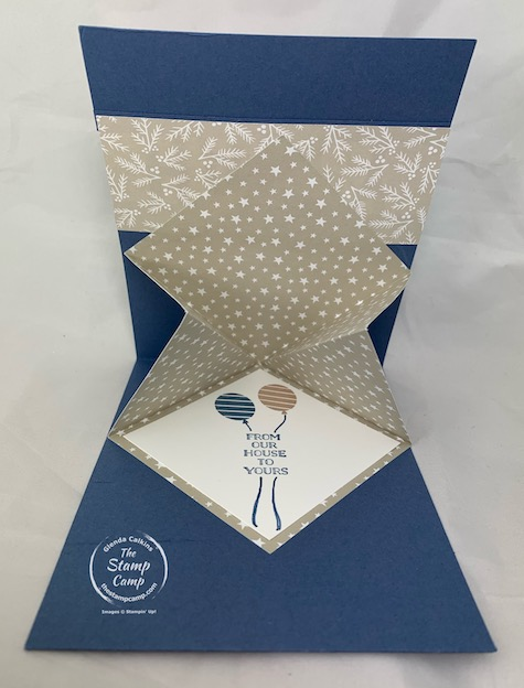 Happy New Year or Happy Birthday either Way this Fun Fold Explosion Card is the perfect way to start off the New Year 2021! I've used a few different stamp sets on this card but it really is a quick and easy fun fold that is sure to leave a WOW! #thestampcamp #stampinup #funfoldfriday